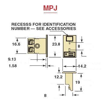 MPJ-RS-F面板式熱電偶插座-尺寸