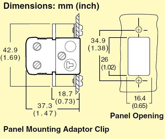 NHJP系列omega热电偶插座安装支架
