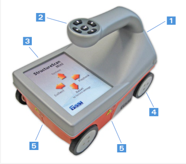 StructureScan Mini手持式钢筋扫描仪