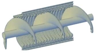 疊螺式污泥脫水機疊螺3D圖