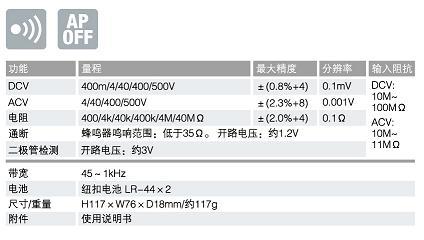 PM11数字万用表|日本三和Ssanwa数字万用表  技术参数