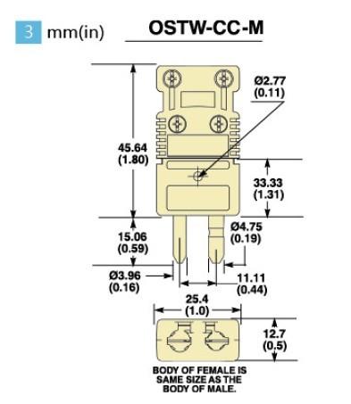 OSTW-(*)-CC-MF系列标准型美国omega热电偶插头插座