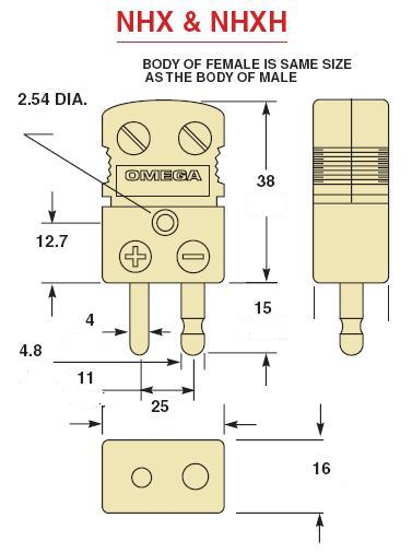 NHX-RS-M热电偶插头|RS型陶瓷热电偶插头