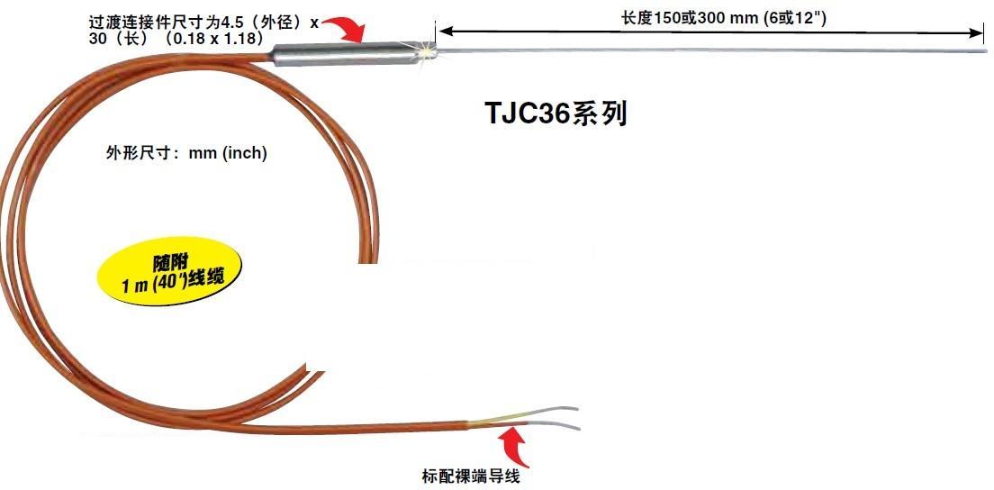 TJC36輕型帶延長線鎧裝熱電偶