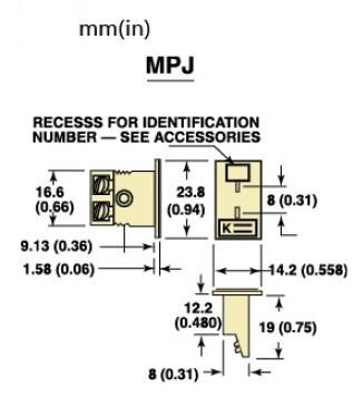MPJ-(*)-F面板式热电偶插座|美国omega嵌入式热电偶插座