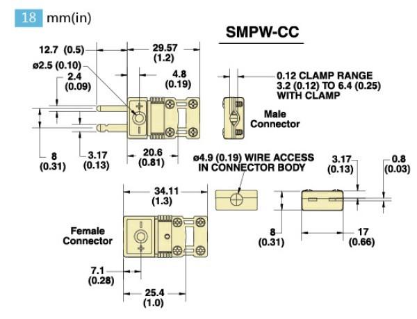 SMPW-(*)-CC-M系列微小迷你型热电偶插头|SMPW-(*)-CC-F系列微小迷你型热电偶插座