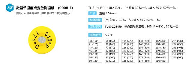 TL-S圆形单格测温纸|美国omega单格圆形测温纸