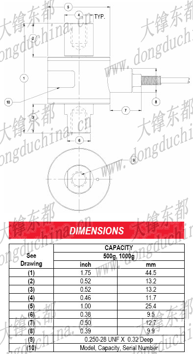 WMCFP Miniature Overload Protected Load Cell