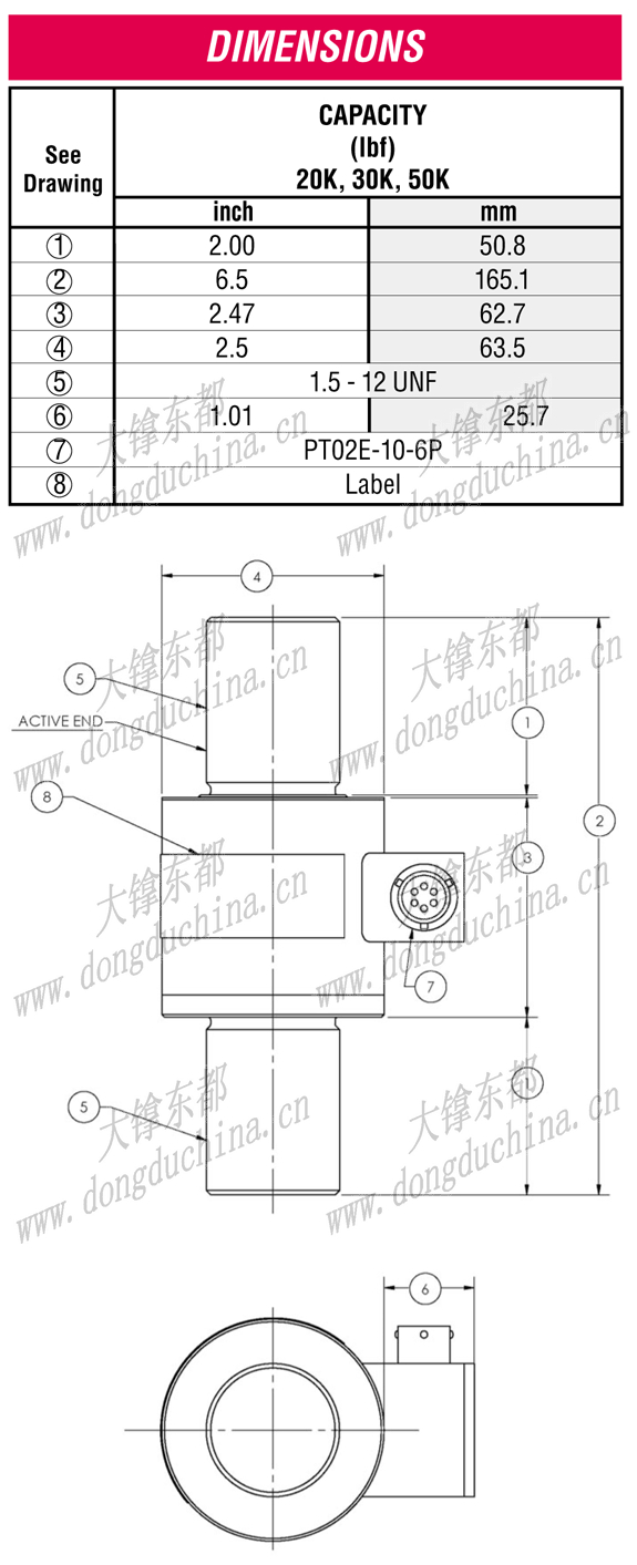 WMC Rod End Load Cell