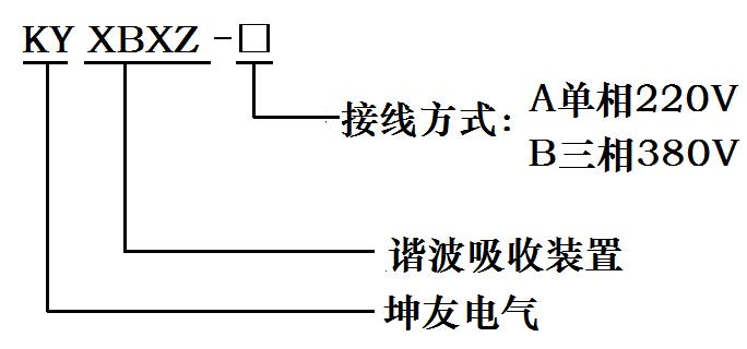 谐波吸收装置型号说明