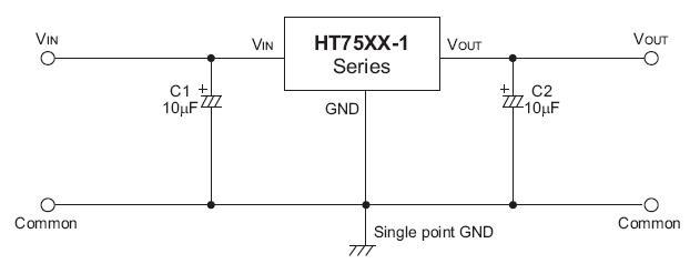 HT7530 稳压电路图