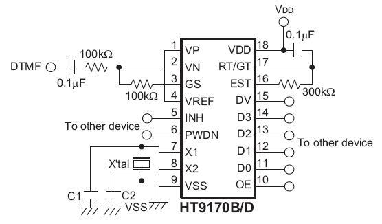 HT9170D 电路图