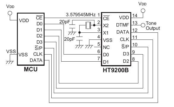 HT9200B 电路图