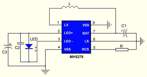 升降压LED驱动电路图