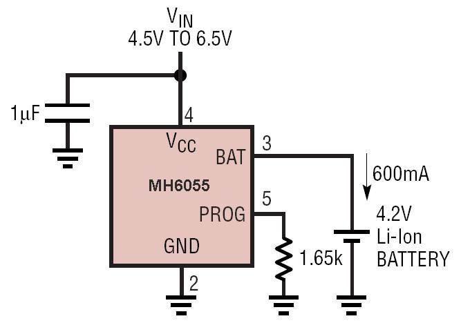 移动电源充电电路图