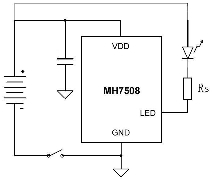 3W led手电筒电路图