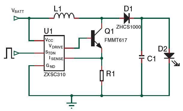 LED手电筒电路图