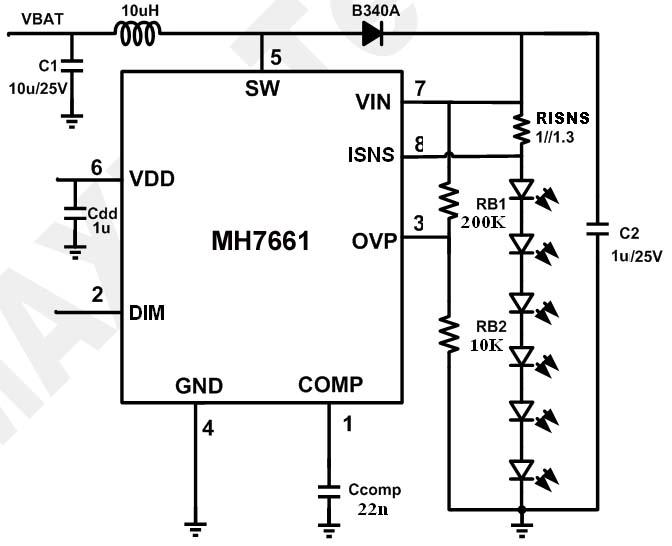 升压LED驱动电路图