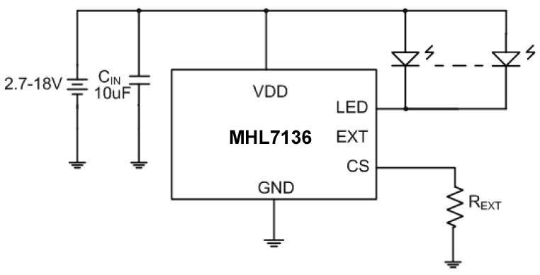 LED天花灯电路
