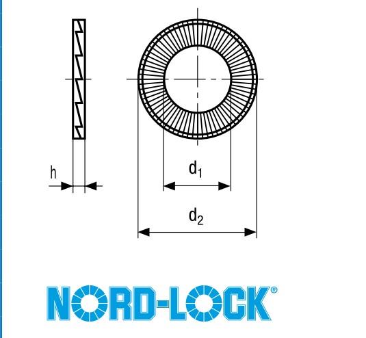 NORD-LOCK结构尺寸图