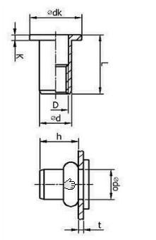 拉帽结构图