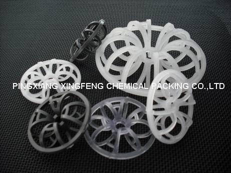 plastic rosette rings.