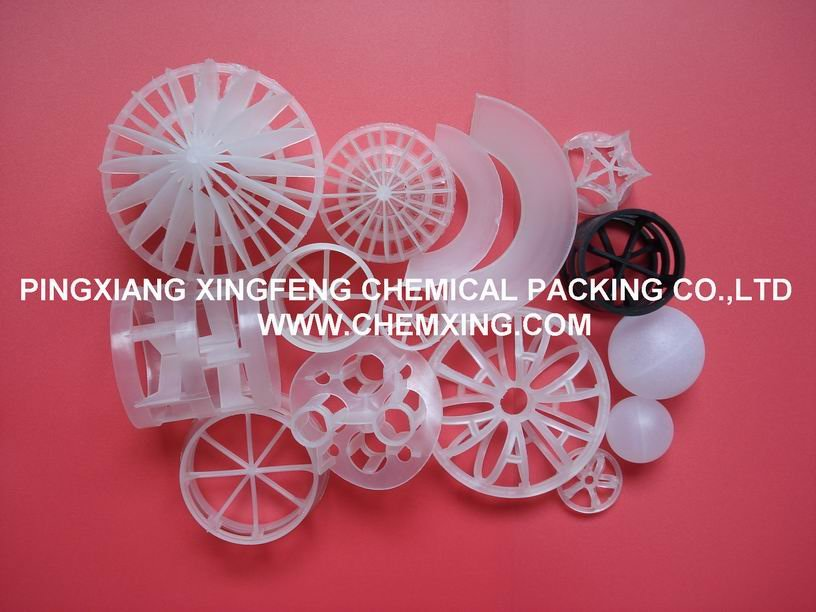 Plastic tower packing