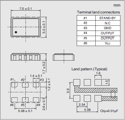 7311S-GF-505X Dimensions