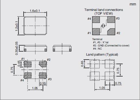 NX1612AA Dimensions