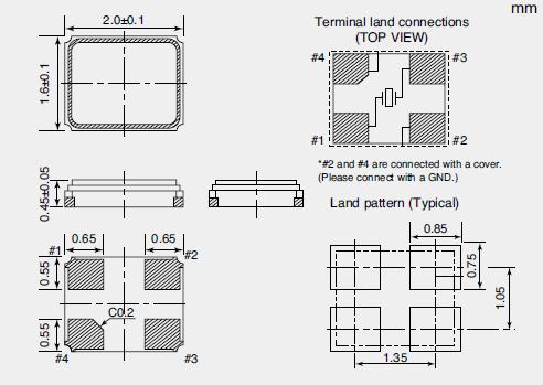 NX2016SA Dimensions