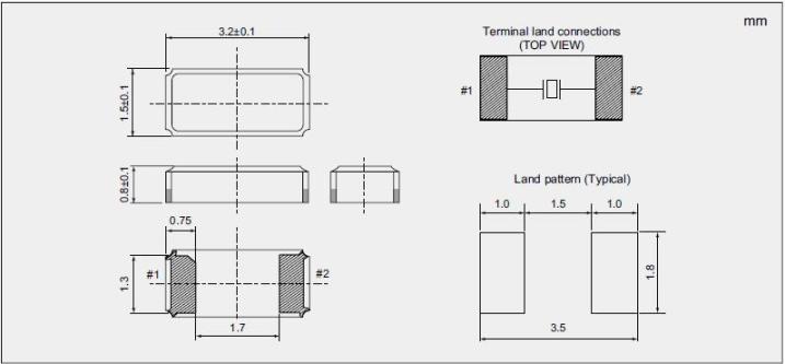 NX3215SA Dimensions