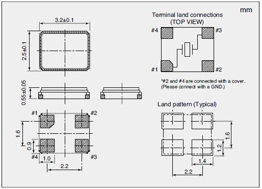 NX3225SA Dimensions