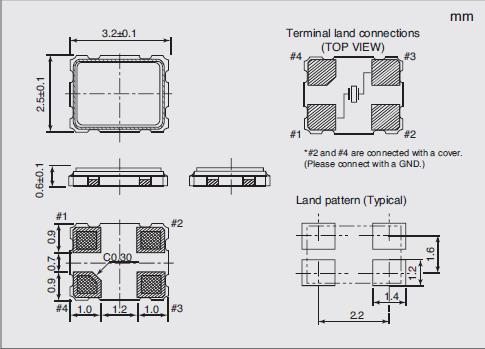 NX3225SC Dimensions