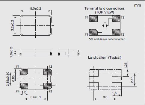 NX5032GC Dimensions