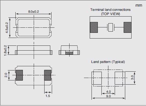 NX8045GB Dimensions