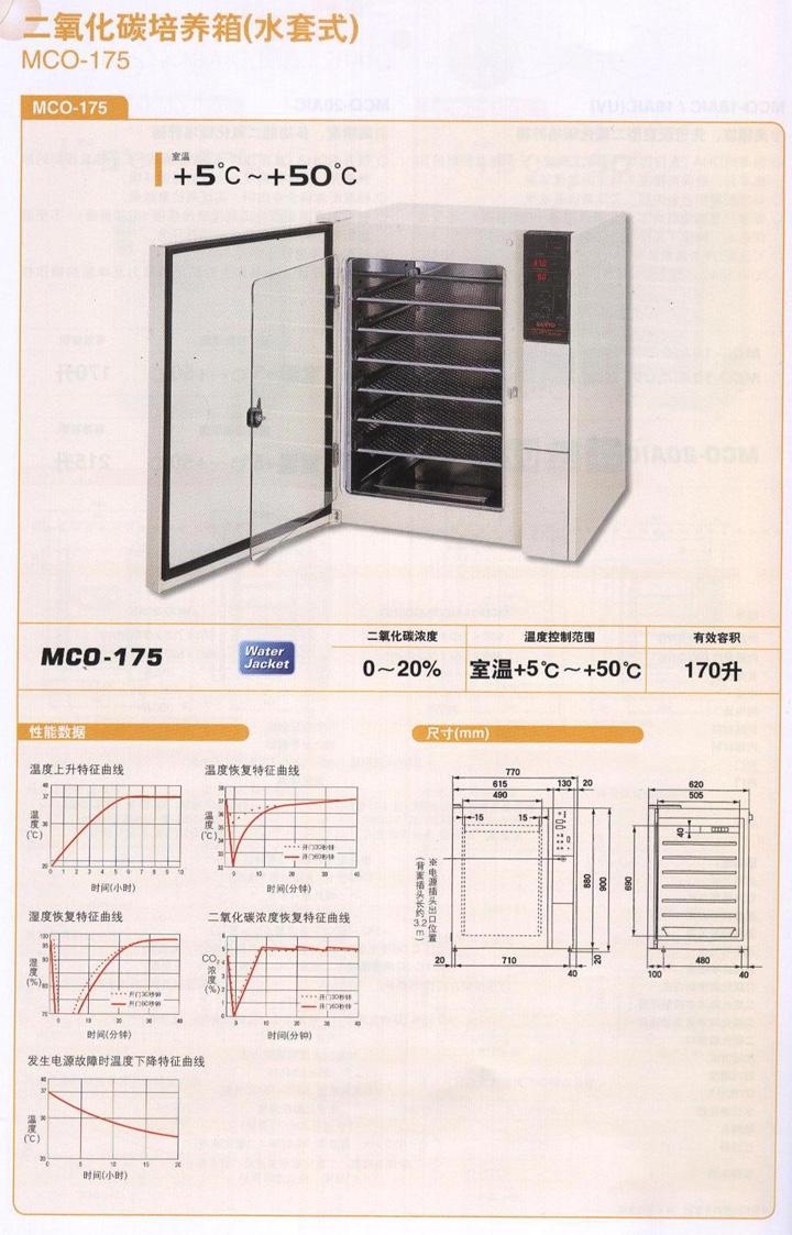MCO-175日本三洋二氧化碳培养箱