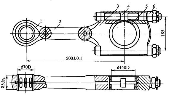 活塞空压机开式连杆