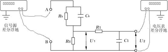 计量接触电流测量网络的接线图: