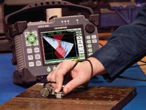 EPOCH 1000带有焊缝覆盖的相控阵S扫描的屏幕