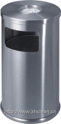 圆脚全不锈钢户外垃圾桶 GPX-87