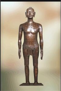 針灸銅人|仿古針灸銅人|銅人針灸模型(真銅全銅 85CM **中型) ZTR-002
