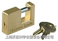 實心黃銅方形鎖 Master lock,606,63mm寬鎖體,10mm粗鎖鉤,小號