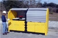 户外重型8桶卷帘式硬顶防渗漏隔间 CN9650,CN9651,CN0676