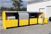 户外重型16桶卷帘式硬顶防渗漏隔间 CN9654,CN9655