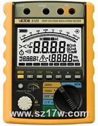 絕緣電阻測試儀VICTOR 3123  VICTOR 3123   3123 說明書 參數 蘇州價格