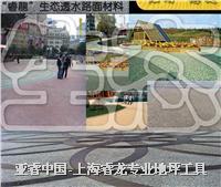 廣場地麵鋪裝——透水混凝土 彩色透水地坪 YR-T1