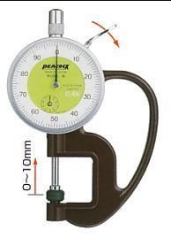 日本孔雀PEACOCK|G-0.4N 针盘式厚度计 G-0.4N