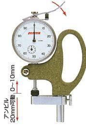 日本孔雀PEACOCK|G-3 針盤式厚度計 G-3