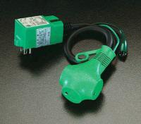15Ax0.5m 漏電遮斷プラグ EA940MH-2