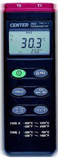 CENTER-303溫度計|K,J型熱電偶溫度表 CENTER-303